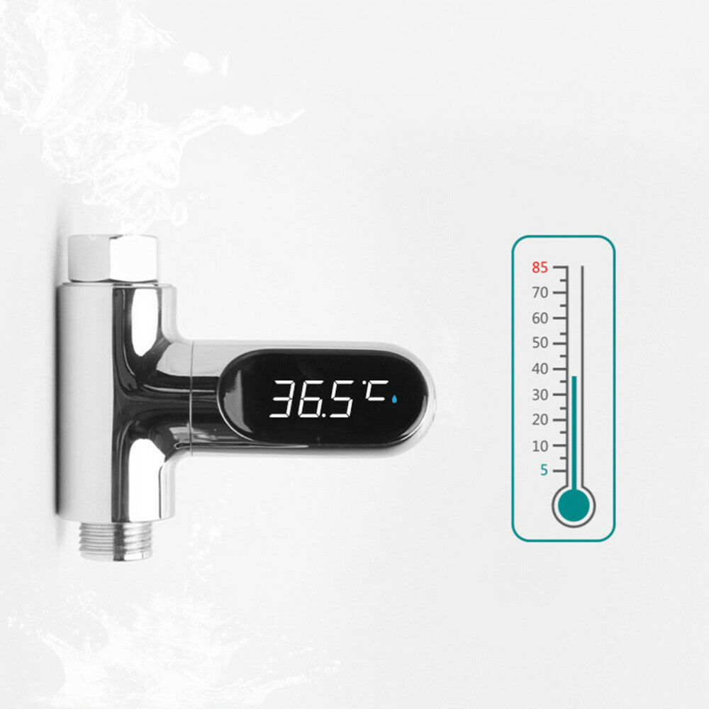 1 Pc Water Shower Thermometer LED Display Monitor Thermometer for Shower Baby