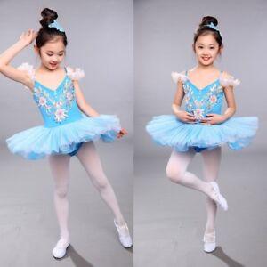 41ab3a590 Girls Kids Multilayer Tutu Ballet Party Dance Swan Skirt Children's ...
