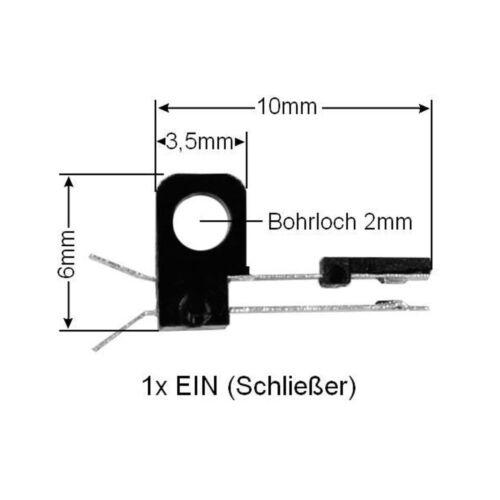 10x Miniatur Taster WS-YP-01C-d Drucktaster Mikrotaster Mikroschalter mini