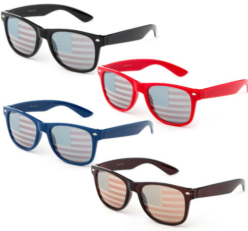 USA Flag Sunglasses Election Glasses Stars Strips Lens Patriotic 4th of July New