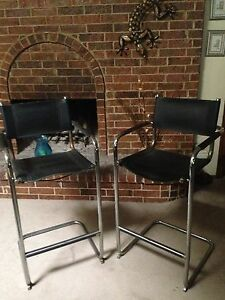 Image Is Loading Pair Of Italian Leather Brewer Chairs