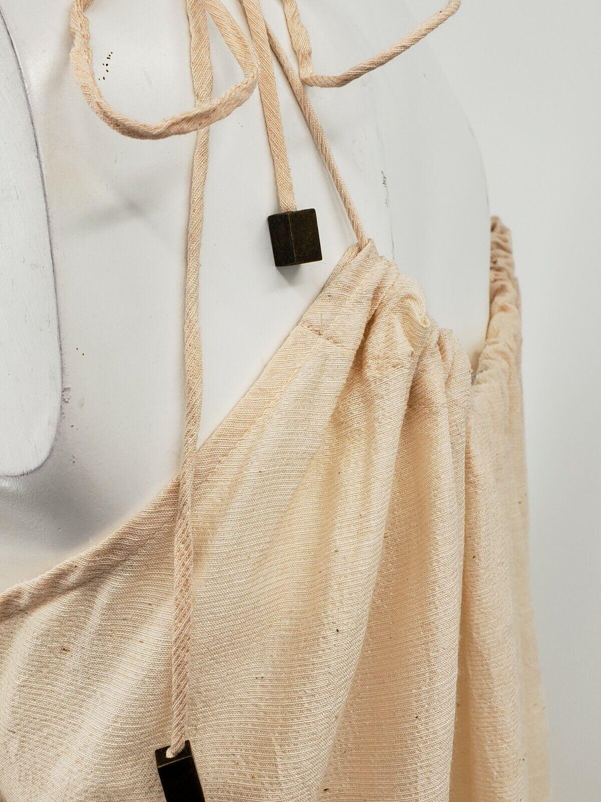 Pondicherie Sita Tie Dress One Size Blush Silk Or… - image 6