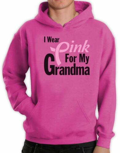I Wear Pink for Grandma Breast Cancer Awareness Hoodie Support