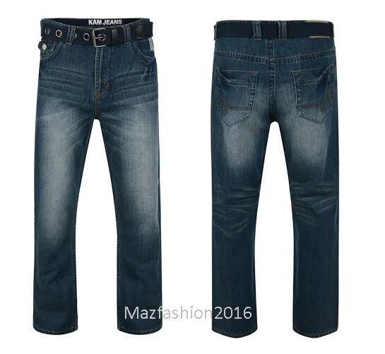 Neu Neu Neu Herren Britto Jeans mit Gürtel Stretch Bequeme Passform 40-60  | Charakteristisch  03e5ca