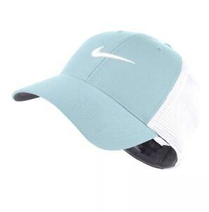 ac4ae9295 Details about Nike Golf Legacy 91 Tour Mesh Fitted Golf Hat 727031 Light  Aqua Blue Sz L/XL