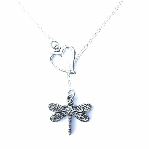 I Love Gilmore Girls Dragonfly Silver Lariat Style Y Necklace.
