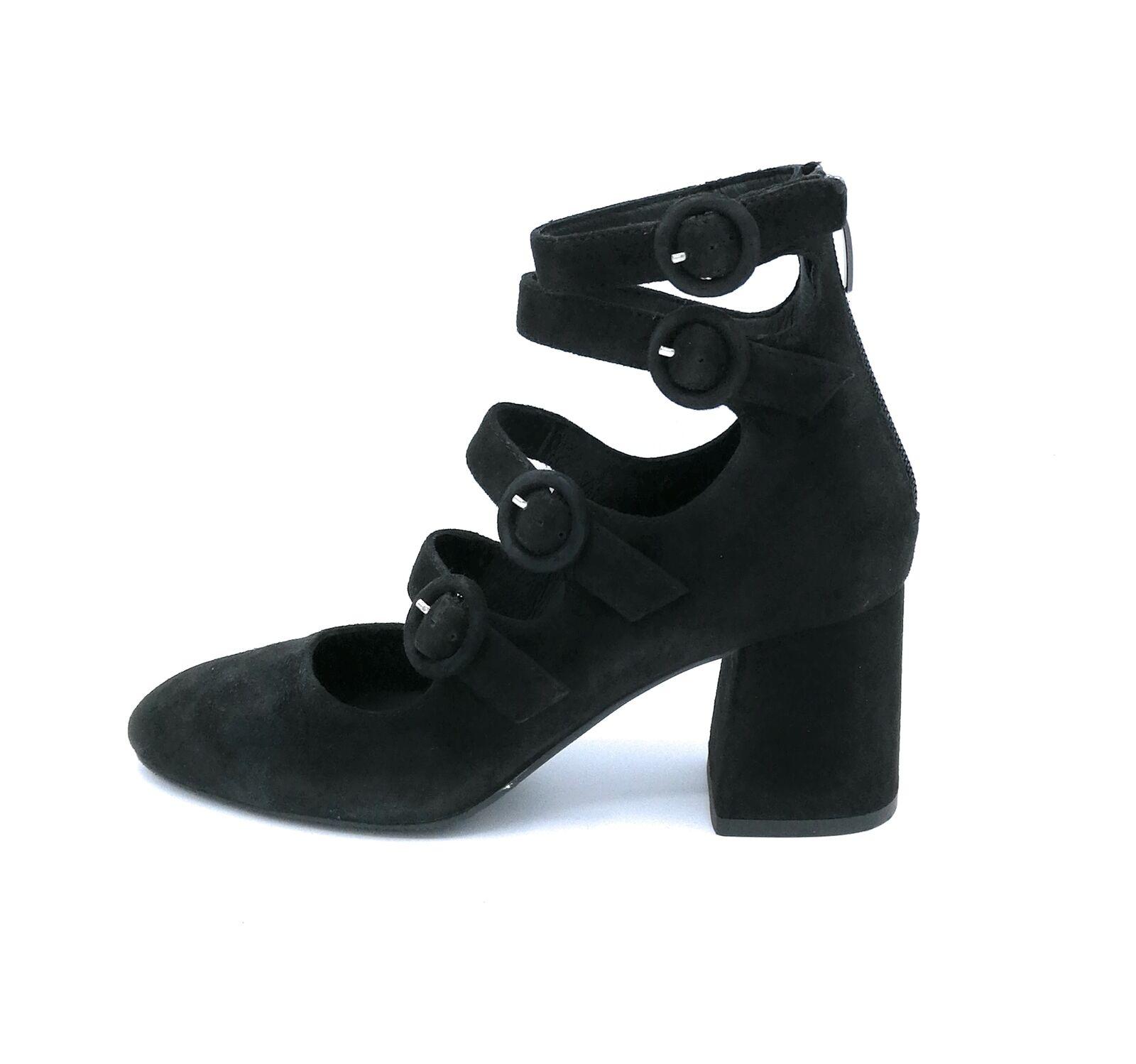 Adele Dezotti S2103 stivaletto camoscio noir cinturini tacco 6 cm