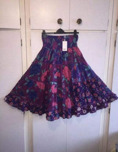 Flare Size Small 8 John 12 Uk Floral Multi amp; Skirt East 10 Coloured Long Lewis YqwCf