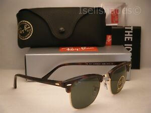 0c3f2efb4e Ray Ban CLUBMASTER (RB3016-W0366 49) Mock Tortoise  Arista with ...