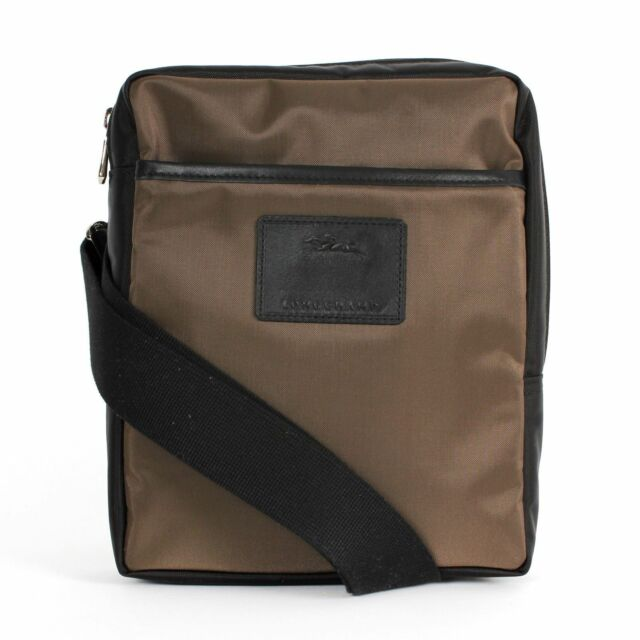 83247ef37c7d Longchamp Baxi Nylon Men s Crossbody Bag Brown black for sale online ...