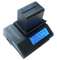 Quick Battery Charger For Sony Handycam Dcr-dvd650e Dcr-dvd610e Dvd710e Dvd810e