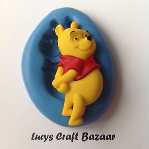 Silicone-Mould-Disney-Winnie-The-Pooh-Bear-CupCake-Decorating-Topper-Sugarcraft