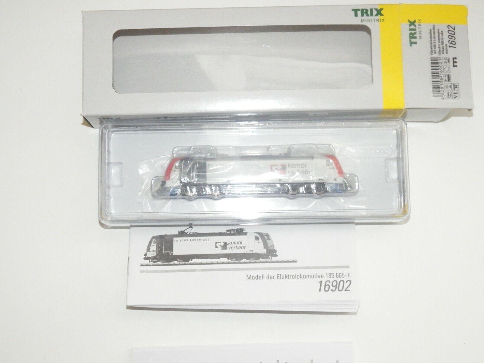 N Trix 16902 Locomotora Eléctrica Br 185 665-7 Familiar Tráfico Novedad Ovp 8009