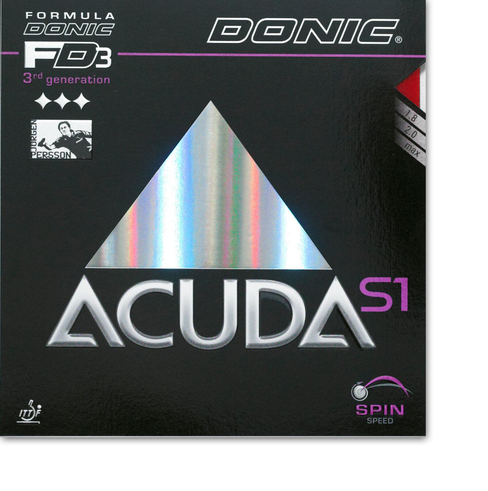 DONIC Acuda S1 2,0mm 2,0mm 2,0mm schwarz  NEU   OVP 447000