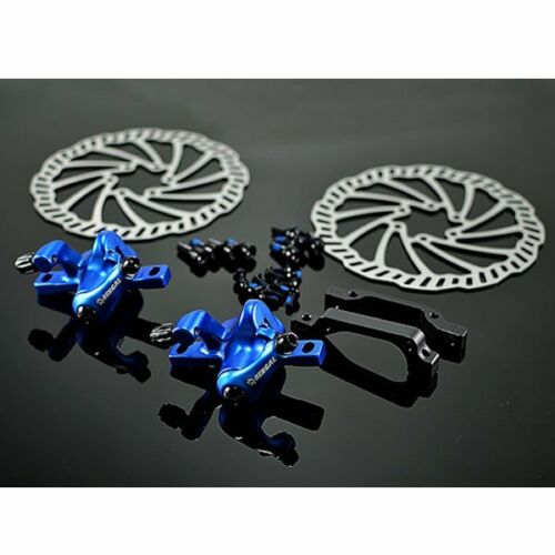 Blue BENGAL Mechanical Disc Brake Set F/&R 160 mm