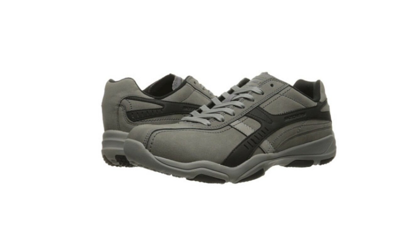 Skechers Mens Sneakers Shoes Larson Almelo Charcoal/Black 64969CCBK Price reduction best-selling model of the brand