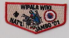 """2001 National Jamboree Wipala Wiki Mini Flap 2 1/4"""" Wide [G1492]"""