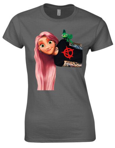 Vetono Shirt 9854 aus Viskose in koralle//schwarz//weiß