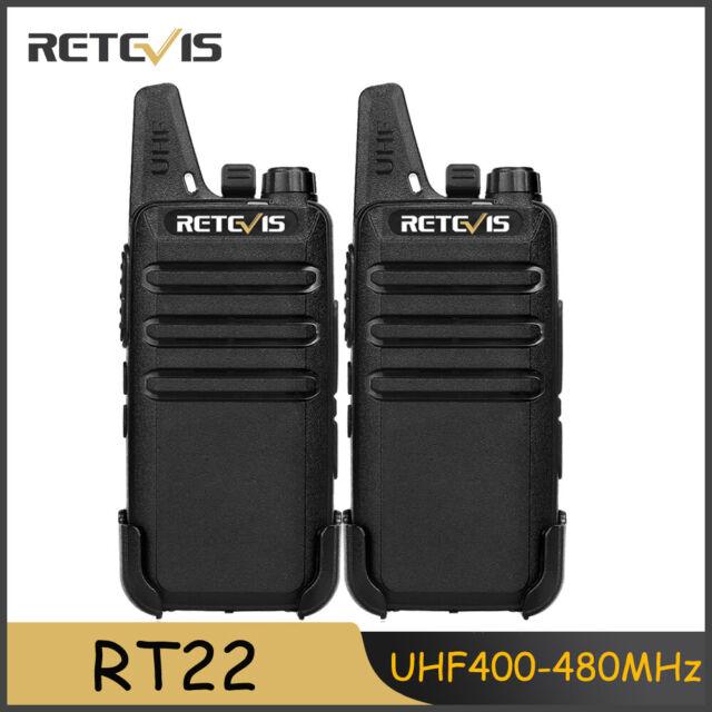 2xRetevis RT22 Two-Way Radio UHF400-480MHz 16CH VOX Scan Walkie Talkie+Earpiece