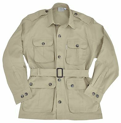 Safari Jacket Mens Stone Sizes S thru 3XL
