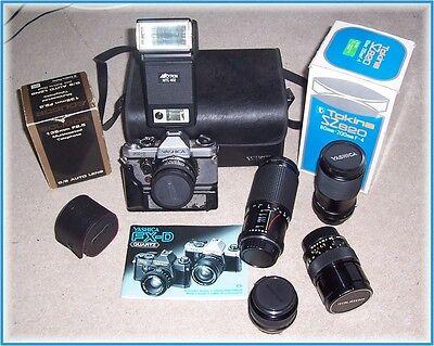 Kamera Yashica Fx D Winder Objektiv Tele Converter Tokina 80-200 Mm Blitz SpäTester Style-Online-Verkauf Von 2019 50% Foto & Camcorder Analogkameras