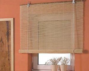 Bambusrollo Fenster Rollos Bambus Rollo Raffrollo Sichtschutz