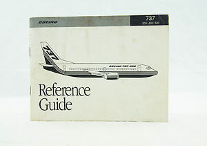 1990 boeing 737 300 400 500 reference guide original aircraft rh ebay com Boeing 737 Next Generation boeing 737 reference guide