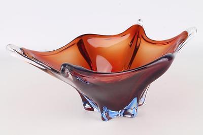 """MURANO Italy Kristall Schale """"29cm"""" Glas Zierschale rot-blau Kristallschale"""