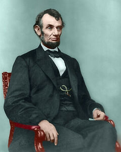 image about Printable Pictures of Abraham Lincoln identify Facts over Shade Portrait Of President Abraham Lincoln Portray 8x10 Genuine Canvas Artwork Print