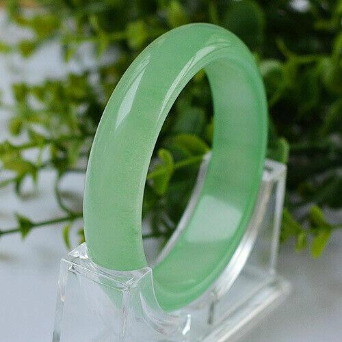 Joli Bracelet Jonc en Jade Vert Translucide Tailles aux choix 56//58mm