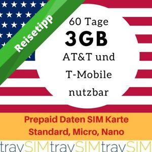3 GB für 60 Tage Prepaid 3UK Daten SIM Karte 3G USA ...