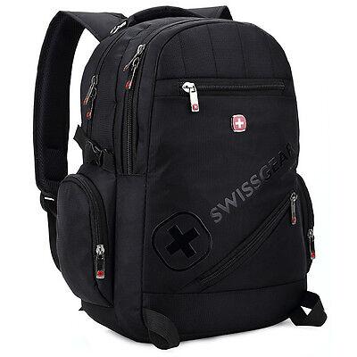 "SWISSGEAR Waterproof Backpack Rucksack Sports Travel Bag Daypack 15/"" Laptop Bag"
