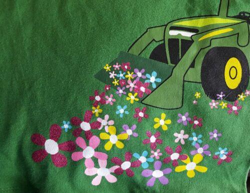 "John Deere green T-shirt with Logo/"" TRACTOR GIRL /""Size  6X JST429GC"