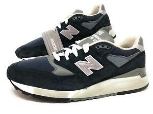 New-Balance-998-Mens-Running-Walking-Shoes-Navy-Grey-Size-12-Made-in-USA-M998NV