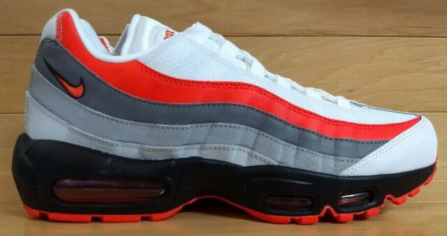 separation shoes 38262 c8a30 NIKE AIR MAX 95 ESSENTIAL SIZE 9 WHITE BRIGHT CRIMSON BLACK 749766-112