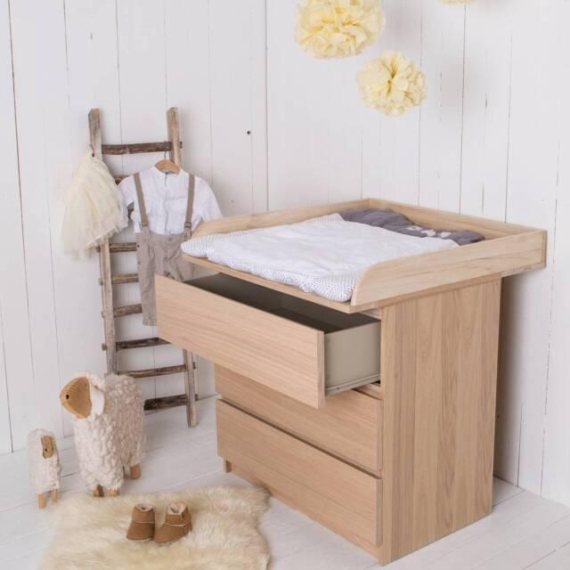 Naturholz Wickelaufsatz Wickeltischaufsatz Fur Ikea Malm Kommode Ebay