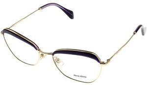 4867d9f28fc Image is loading Miu-Miu-Eyeglasses-Frame-Women-Violet-Rectangular-MU51NV-