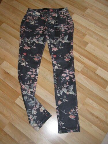 Buena Damenhose Dunkelblaueamp; Blüten Neu Velour Malibu Knit Größe Vista S Rosa DH9E2IW
