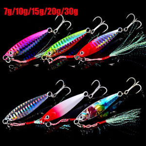 Minnow Jig Bait Feather Metal Fishing Lures Spinning Baits Lead Casting