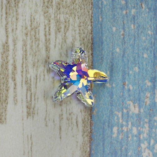 20~100x Crystal Starfish Enamel Charms Pendant Sea Star Seashell Jewelry Making