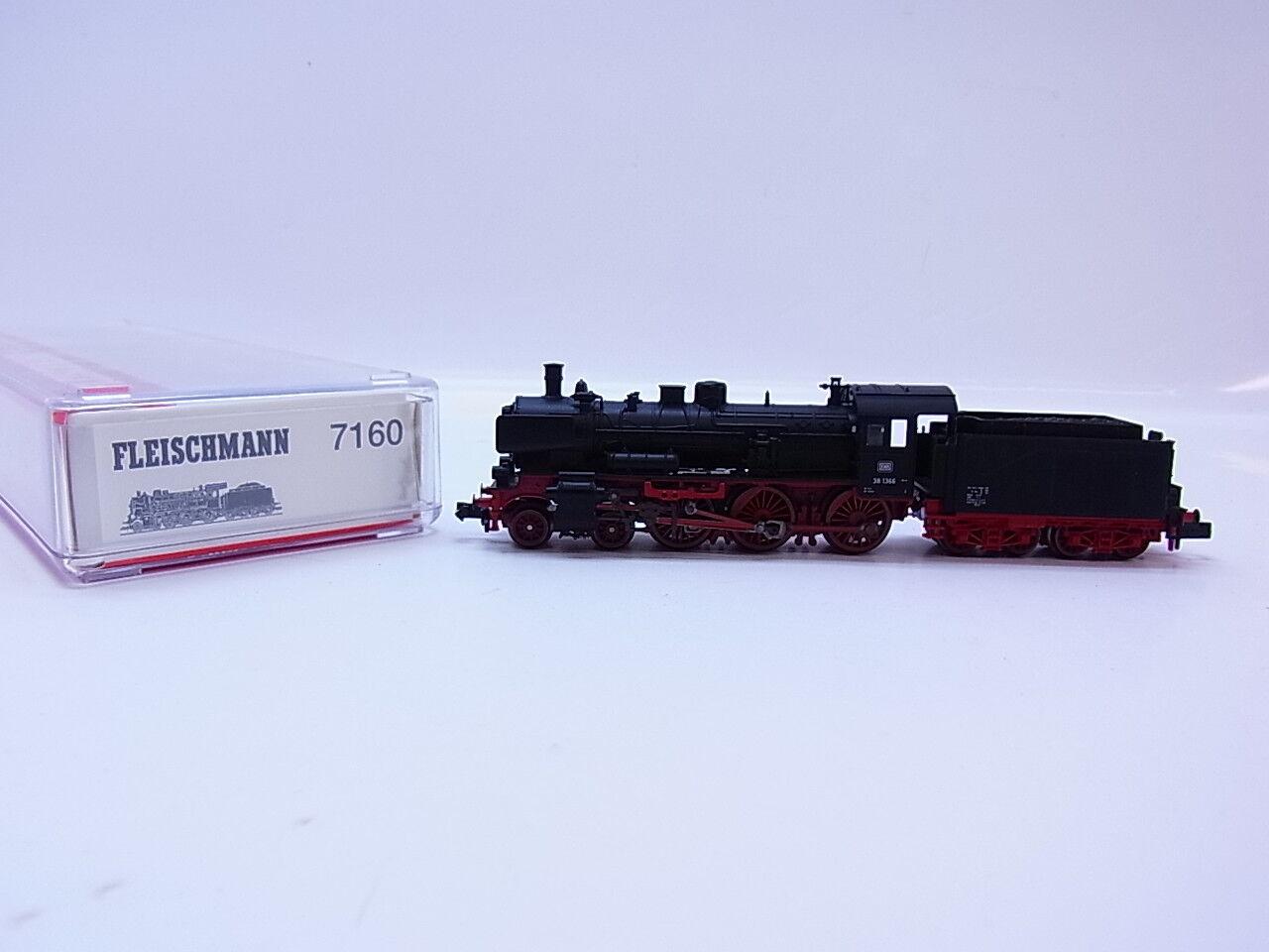 51439 hermosas Fleischmann n 7160 máquina de vapor br 38 1366 de la DB rareza-raramente OVP