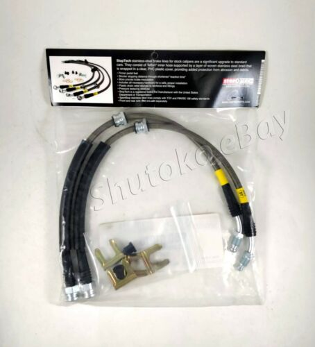 STOPTECH SS STAINLESS STEEL FRONT BRAKE LINES FOR 04-13 MAZDA3 MAZDA 3