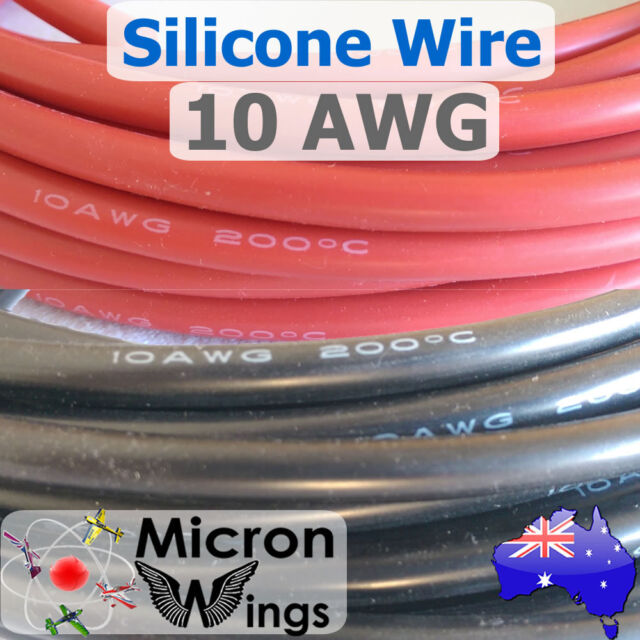 10AWG Silicone Wire Cable for RC LIPO - By The Metre
