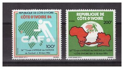 Cote D' Ivoire. Nr. 678/679. 2 Werte Fußball Neu ** .wunderschön. Kunden Zuerst