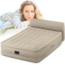 INTEX Luftbett mit Pumpe Gästebett Bett Matratze Luftmatratze Rückenlehne 230V