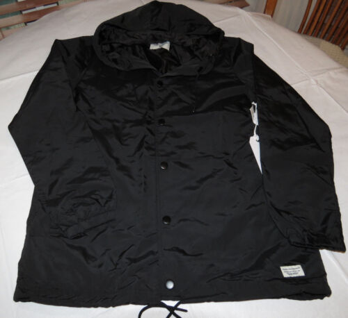 Modern Amusement Men/'s jacket wind breaker rain coat hood M 001 black NWT