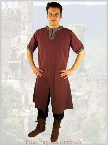 Long Medieval Tunic Braided Renaissance SCA Larp Aristocrat Chevalier Celtic