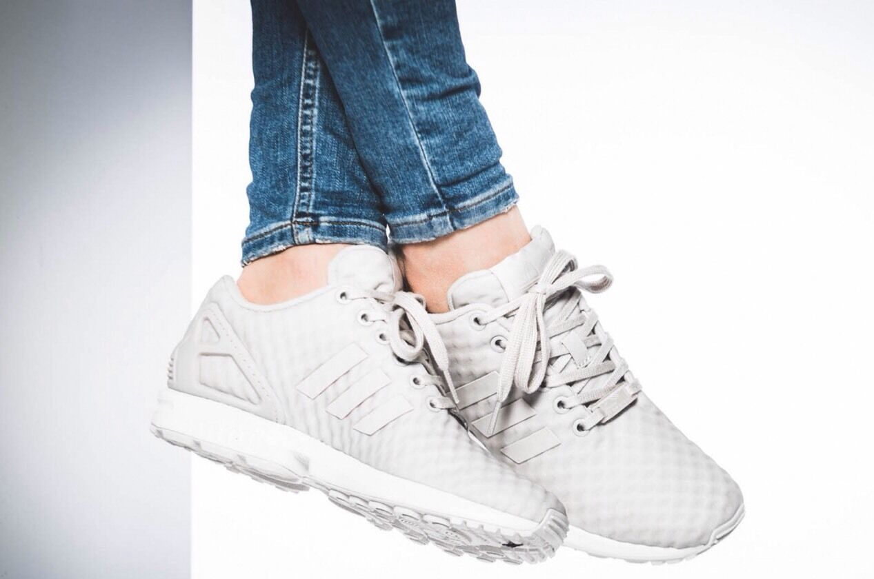 Adidas zx flux S76606 women's Running Training shoes white Peagre 100% AUTHENTIC