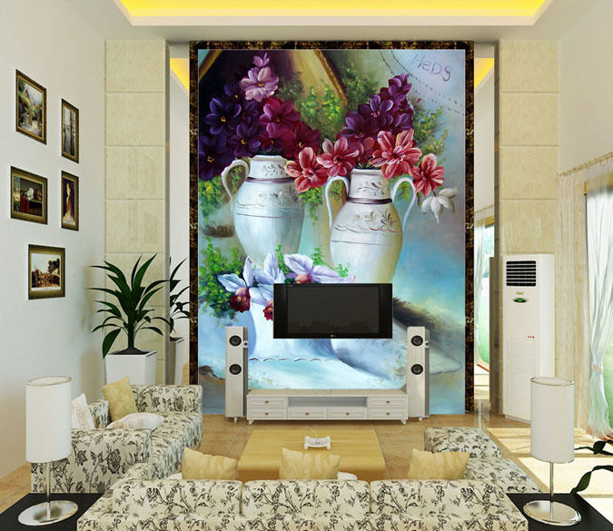 3D Beautiful Vase 6 Paper Wall Print Decal Wall Wall Murals AJ WALLPAPER GB