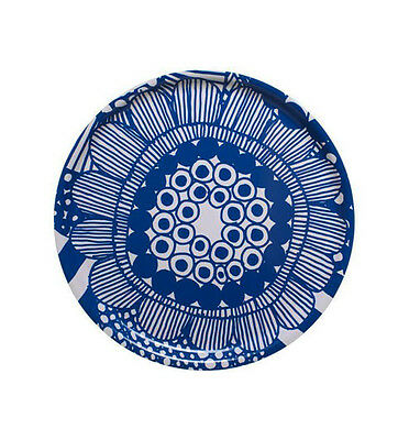Siirtolapuutarha Round Serving Tray, in Blue, Ø46 cm, by Marimekko